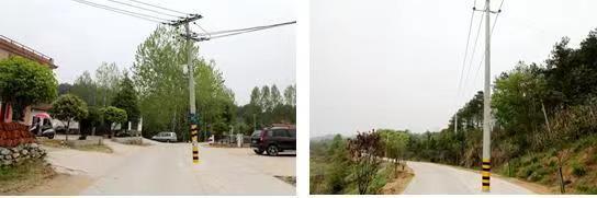 """湖北团风:消除安全隐患,128根占道电线杆""""搬家""""了"""