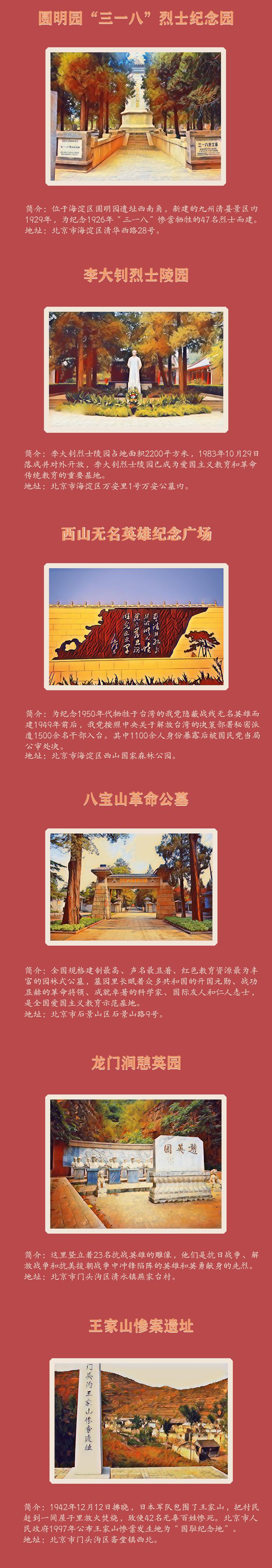 """红""""游""""记 打卡北京红色景区之烈士陵园、教育基地"""