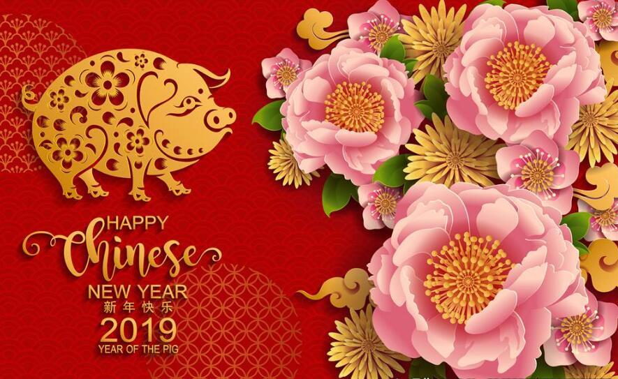 简短的春节祝福语大全,猪年快乐!