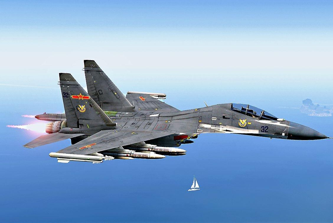 中国空军后来居上,三代机服役超千架,接近美国空军位居第二名