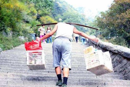 为什么泰山挑山工工作辛苦,工资也不高还有人肯做?答案有点无奈
