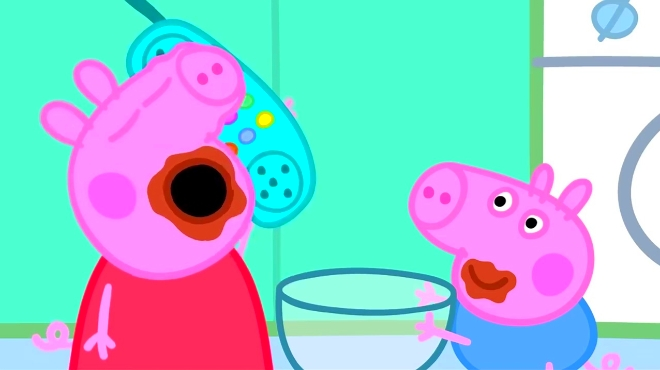 妈妈育儿小助手 06:07 小猪佩奇的弟弟乔治变成恐龙 粉红猪小妹想做魔
