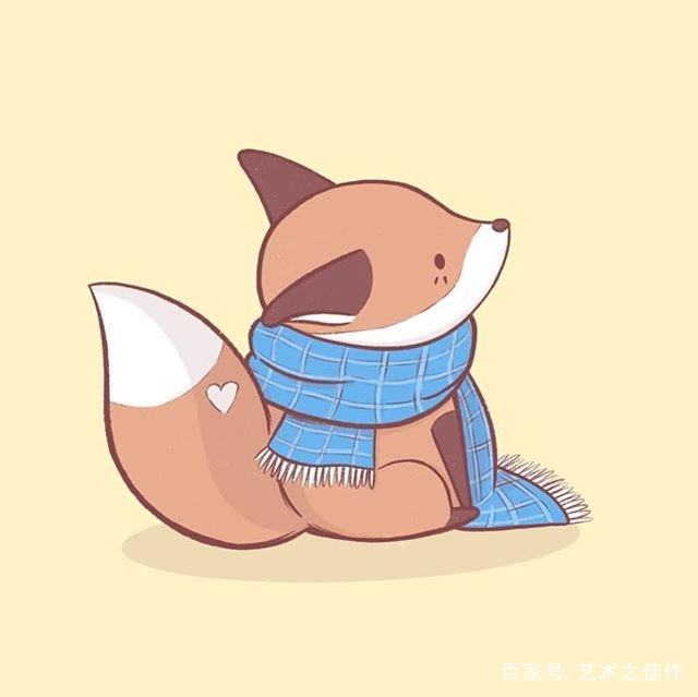 板绘插画,各种可爱的小动物,画风太萌了