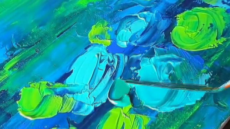 一副好看的彩弹抽象画演示,妙笔生花的技术,看得人眼花缭乱!