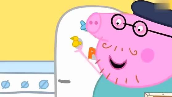 《小猪佩奇》乔治佩奇喜欢用手画画