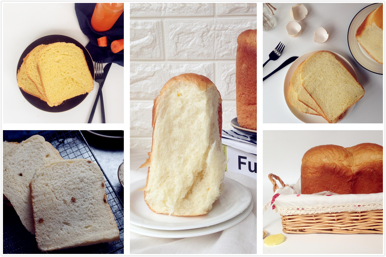 用面包机就能做出5种不同口味的面包,详细做法一次分享给你!