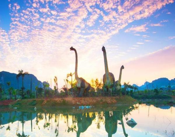 中国仅有的一台飞龙过山车在此地,游乐项目超乎你的想象,这里就是广西崇左的扶绥龙谷湾恐龙公园。  龙谷湾恐龙公园占地 3000 亩,由恐龙主题乐园与恐龙文化公园两大园区组成,拥有远古的呼唤、恐龙谷、动感地带、儿童王国、多媒体体验中心、古生物博览园六大功能区域。 园区游乐项目均运用国际先进科技手段打造,其中包括国内仅有的一台飞龙过山车,南方首次引进的 4D 轨道车电影恐龙危机,史前世界实景打造的恐龙漂流,新型动感座椅与裸眼3D技术相结合的360度球幕电影院,更有儿童城堡、激流勇进、疯狂大摆锤、太空穿梭机等