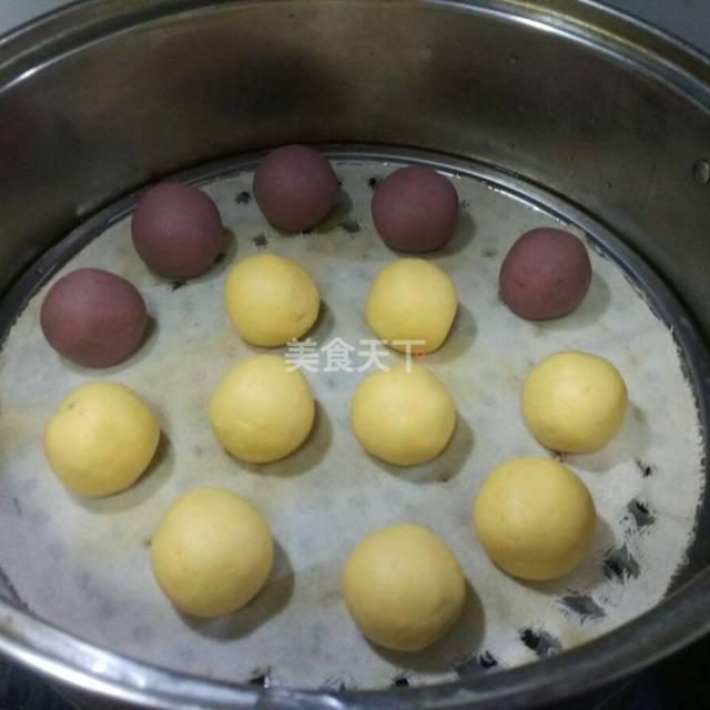 超简单的甜点,双色糯米糍,厨房小白也可以轻松搞定