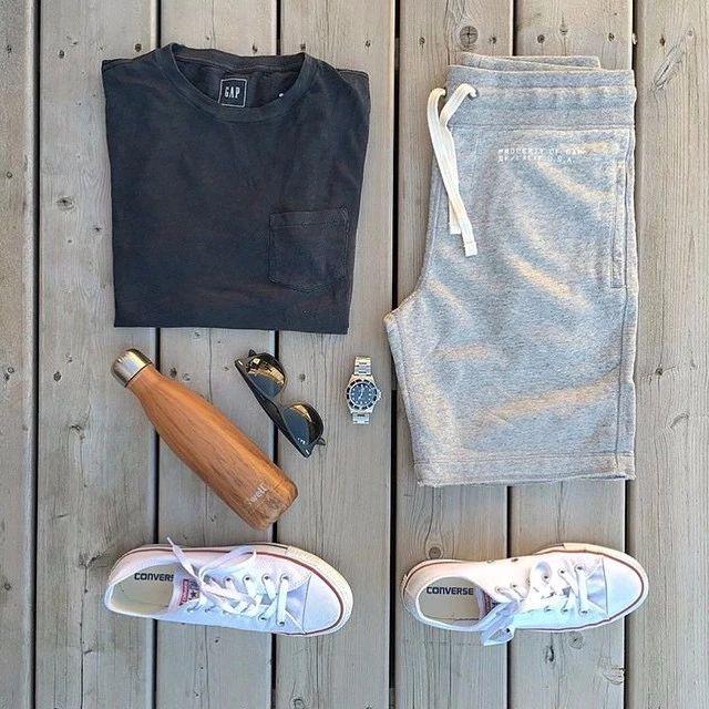 运动裤+运动鞋的搭配,这么穿准没错!