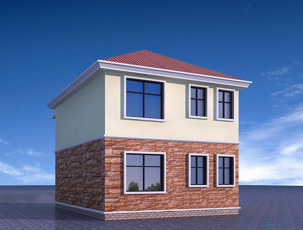 6米×10米的欧式二层小别墅,造价20万,塑造一个精致