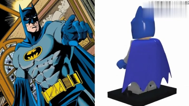 正义联盟DC蝙蝠侠,乐高VS电影漫画版