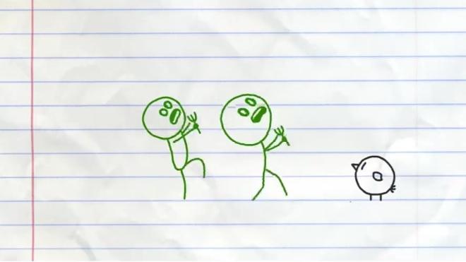 「小雨」火柴人创意涂鸦:火柴人变僵尸吃鸡吗?游戏