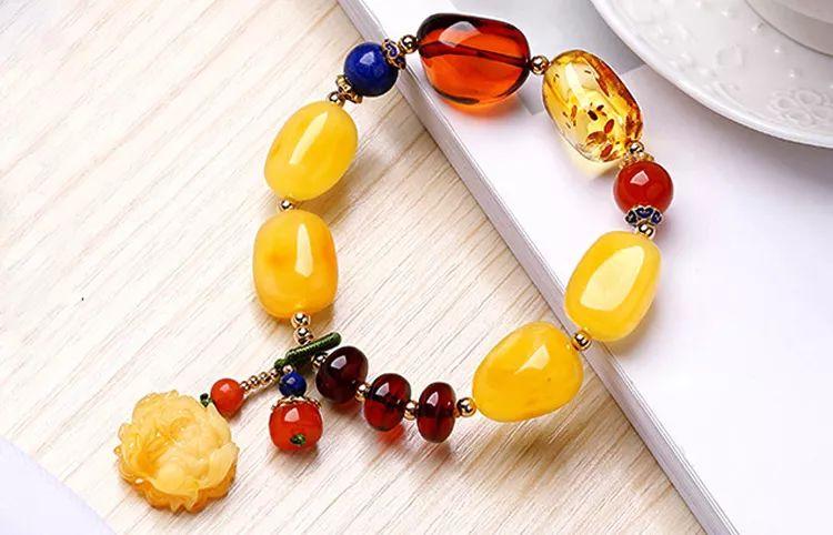 琥珀蜜蜡手串、手链品质鉴别鉴定