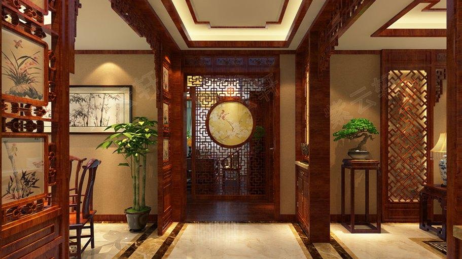 22张走廊中式装修,你家的走廊还只是随便装装吗