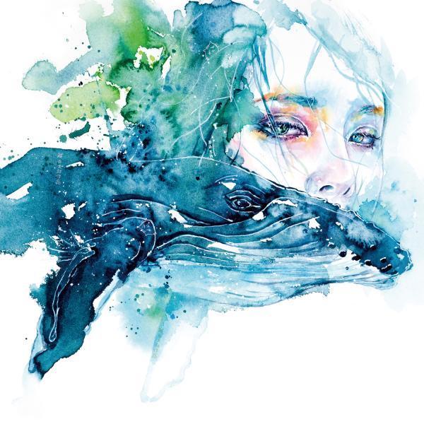水彩绘画笔下流淌的情绪插画作品