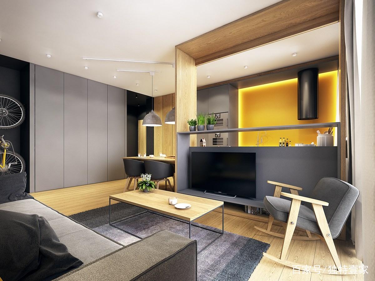 今天给大家推荐的是一套117平米复古工业风装修案例,面积虽然不大,但整体原木色设计特别好,整个户型的格局接近完美,尤其是卧室带有一个书房大赞。 客厅 客厅的位置,整个装修与布置都简单了,但是温馨实用。原木风地板、茶几还有摇椅,这样的客厅温馨感十足。  一盆小绿植,为客厅增添了绿色生机,电视背景墙个性十足,增加了趣味性。