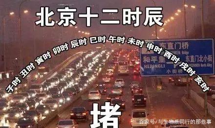 北京的十二时辰一个字:堵