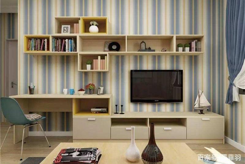 小户型电视柜,莫再买了!看我家直接木板上墙,远离脏乱挤!