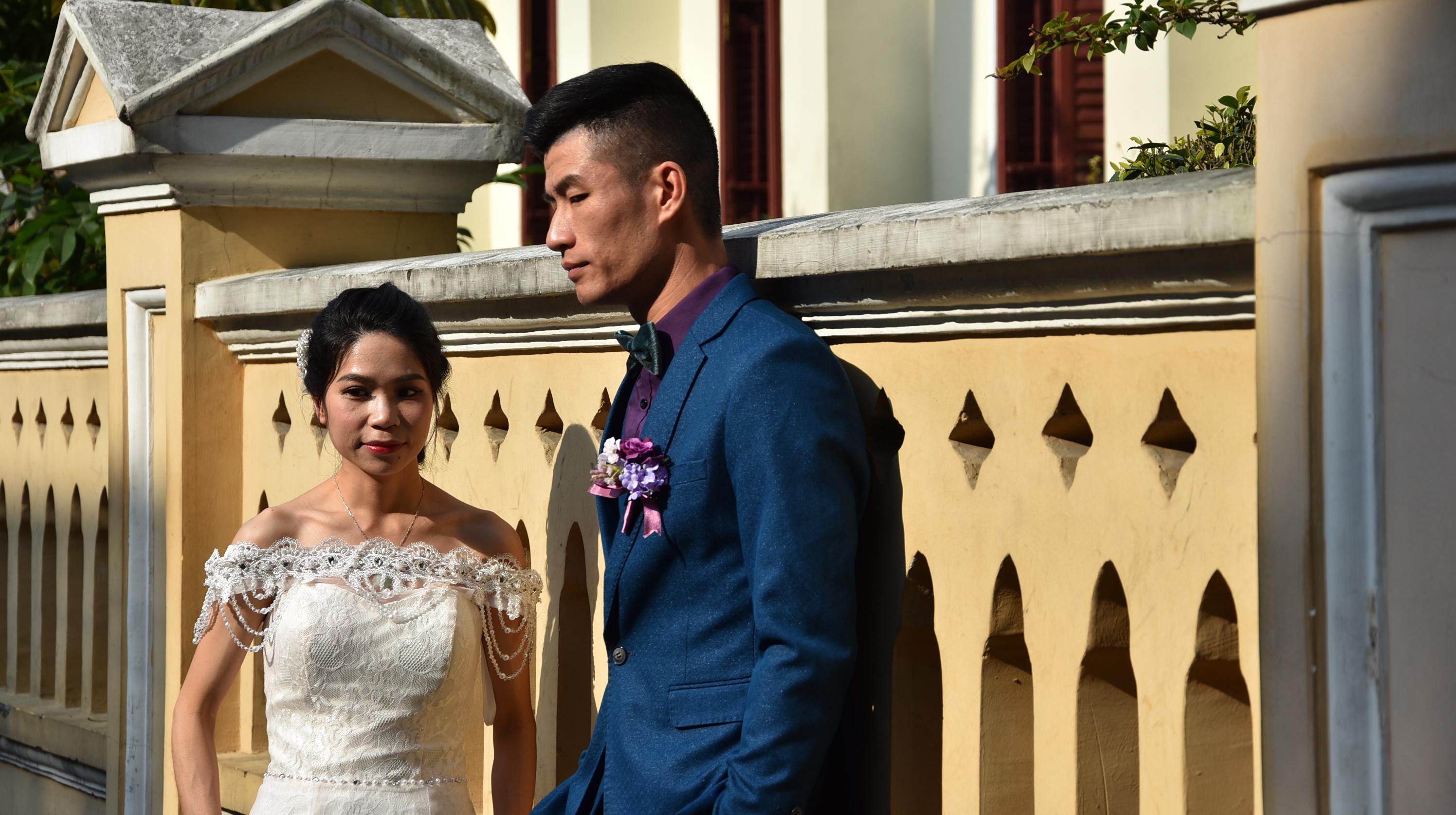 新年适合拍婚纱的地方,广州的沙面不会让你失望,值得推荐