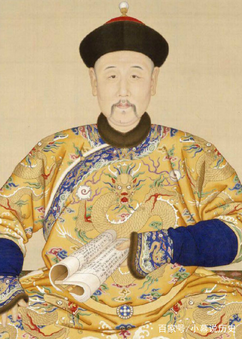 第肆色_清朝前五位皇帝画像:清一色的单眼皮长脸,图三的顺治
