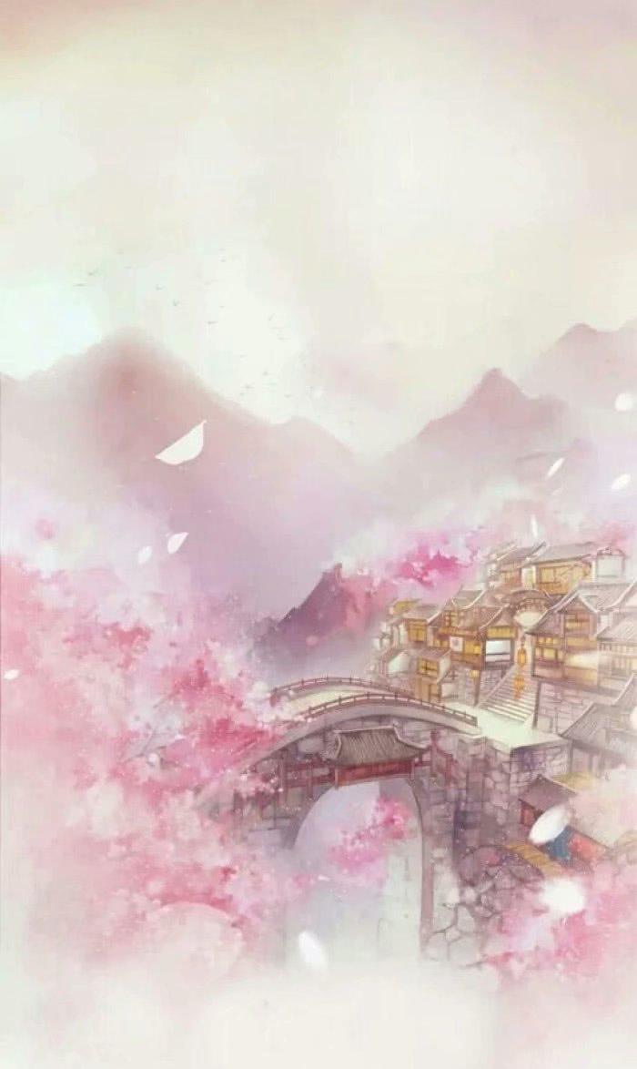 古风梅花树手绘
