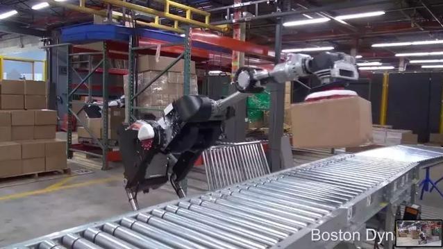 波士顿动力发布最新视频:带轮的Handle搬货机器人