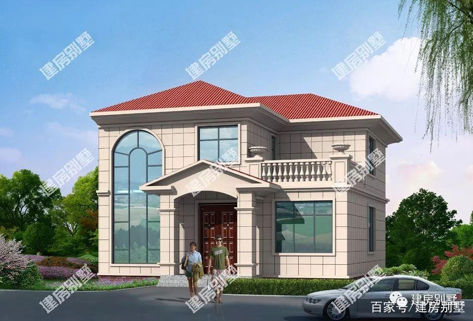 户型是通透的,客厅挑空;二层设计有两间卧室和室外露台.