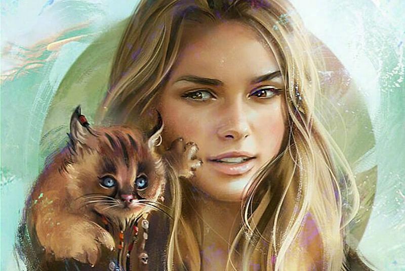 外网画师笔下的《演员与宠物》,玛蒂尔达养小黑猫、雪诺居然养它