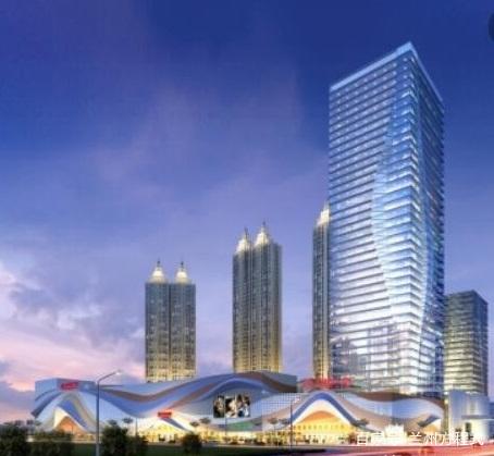 定西万达广场效果图.定西万达广场选址定西新城区,项目用地达到205.