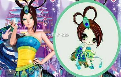 叶罗丽;6位女主的q版头像,王默萌萌哒,冰公主倾国倾城图片