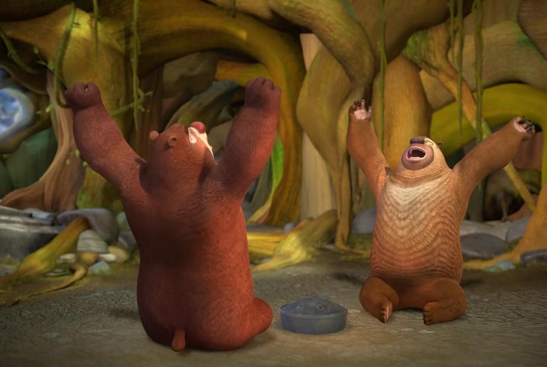 熊出没探险日记2第44集:叫醒冬眠的熊有多费劲,心疼光头强!