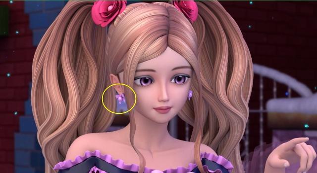 叶罗丽:五位美女的耳环,辛灵的很古典,曼多拉的很有图片