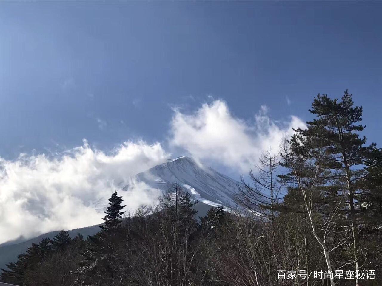 富士山美景:气势宏伟的富士山,令人浮想联翩,果真壮观