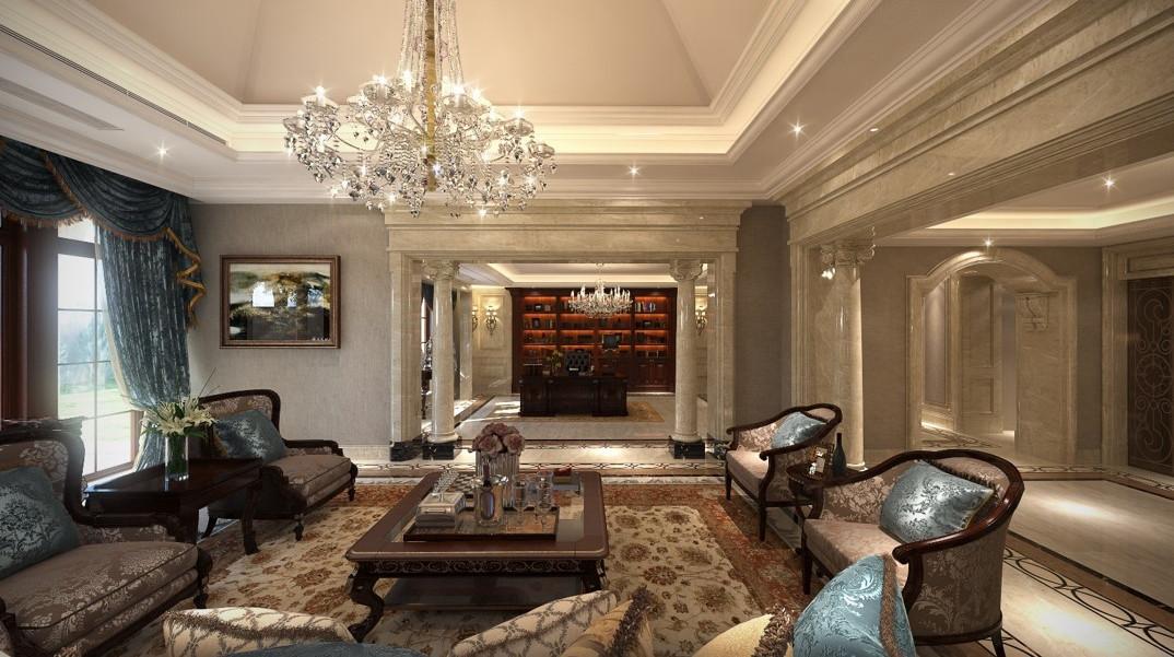 600平新古典装修设计,豪气十足却是一种舒适的生活方式