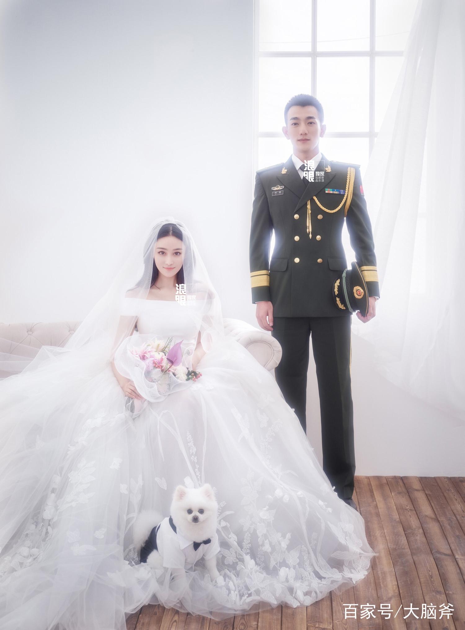 张馨予纯白拖地婚纱梦幻唯美,与帅气老公亲密贴脸