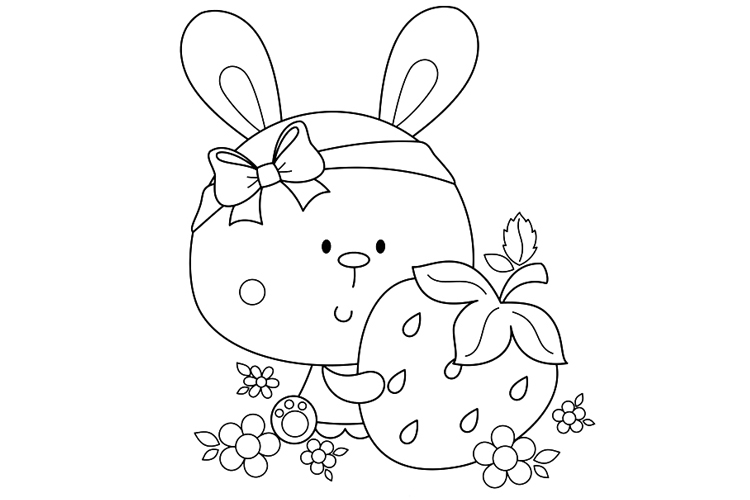 可爱卡通小动物黑白线描来一波!