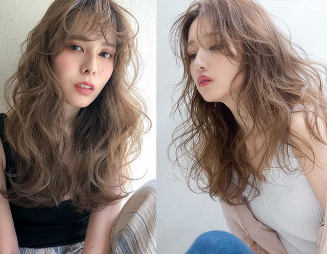 三四十岁的女人,2019流行中长发烫发!这3种烫发,时髦图片