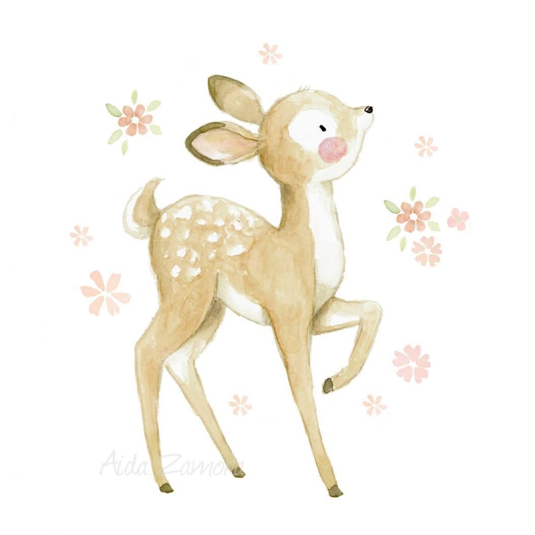 萌萌哒水彩卡通小动物,喜欢的可以抱走做头像