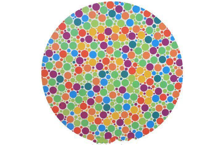 """色盲测试:图中有一个数字""""5""""你能看到不?看不到,就是色盲!"""