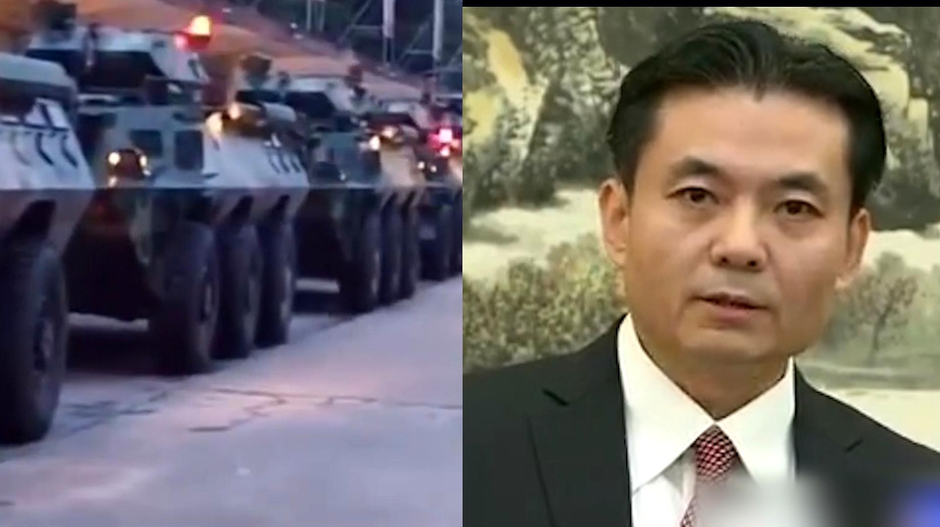 大批武警车队深圳集结 港澳办霸气表态:香港已走到重要关头!