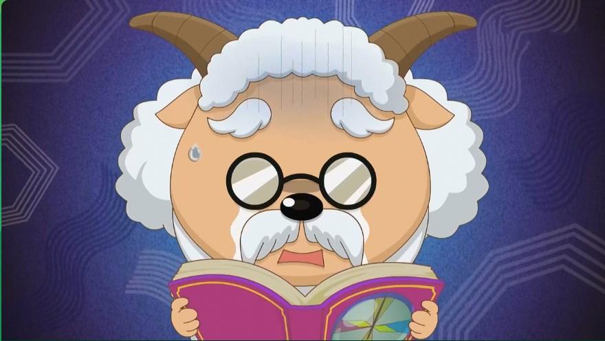 喜羊羊:慢羊羊村长是因为经常过度用脑,才会导致头上图片