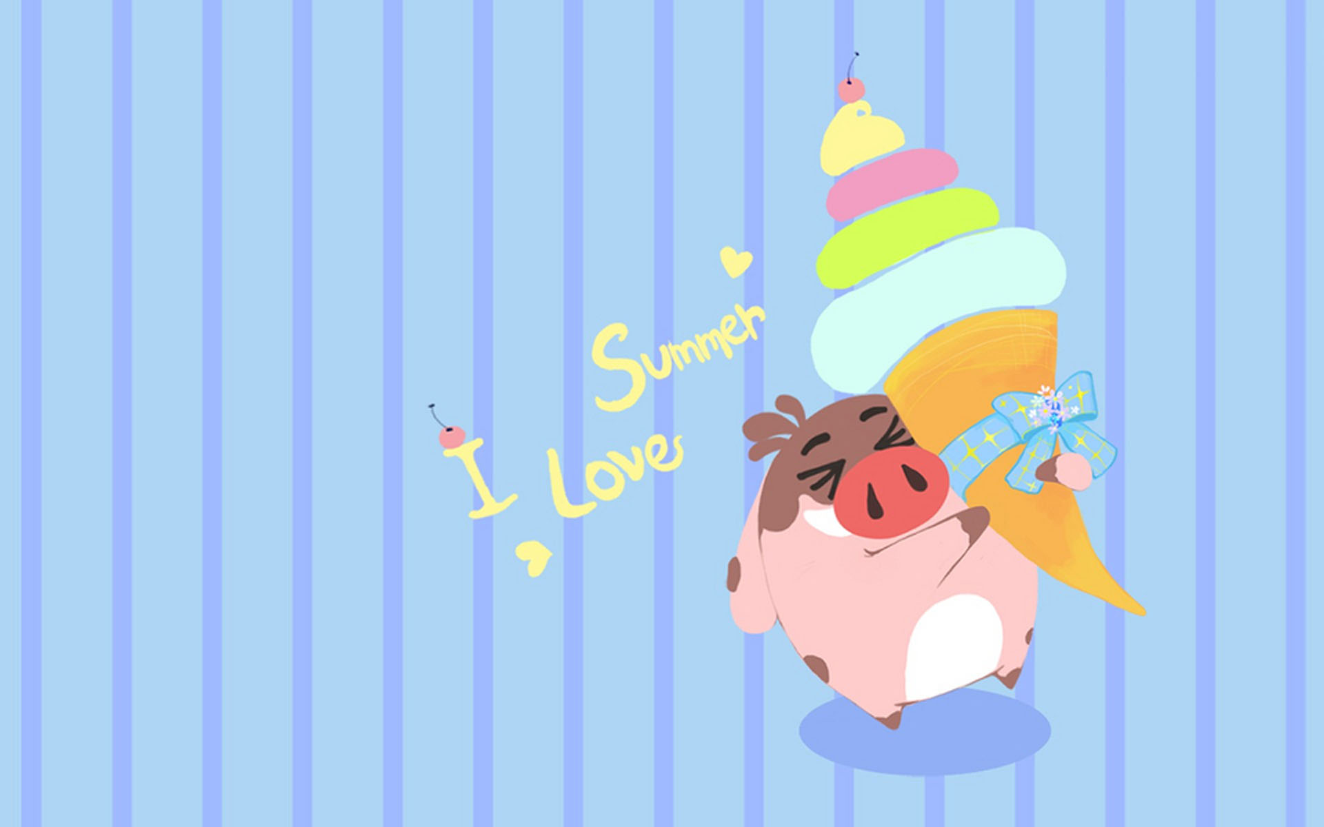 2018年11月可爱小猪卡通图片日历壁纸,分辨率:1920x