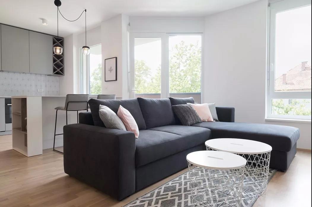 极简北欧风二居装修沙发设计图