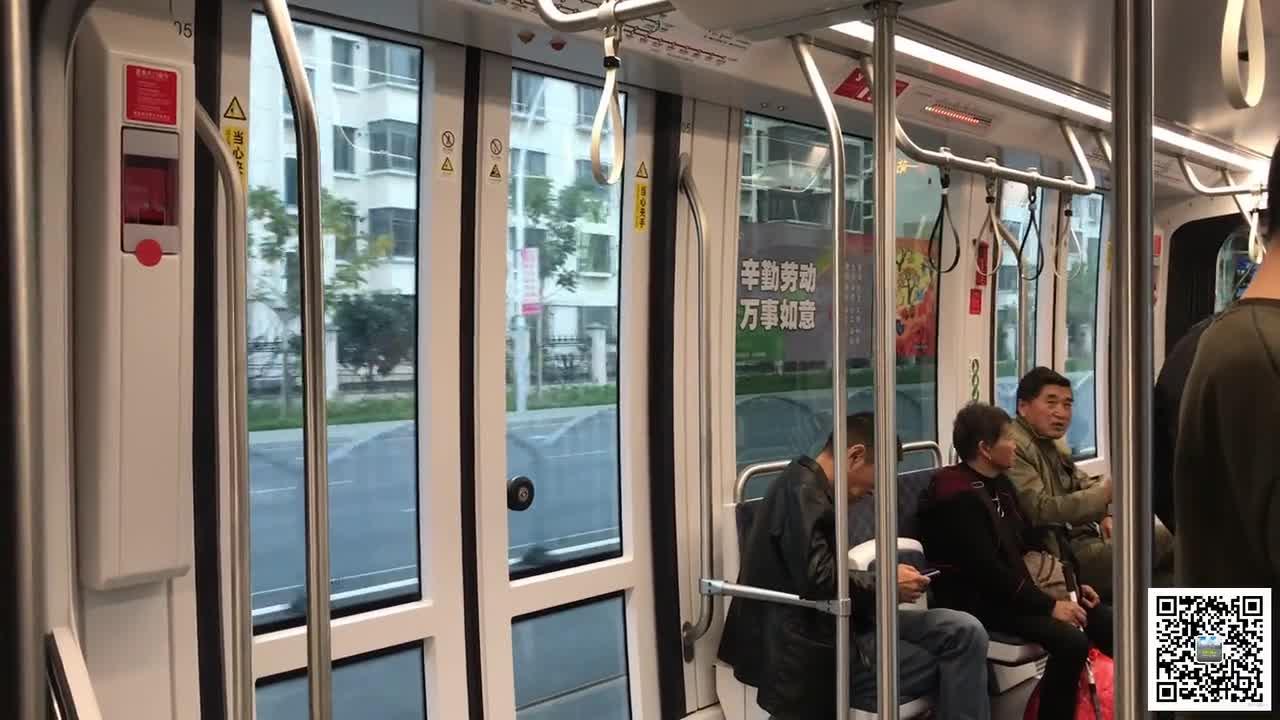 体验上海松江有轨电车(1):一号线