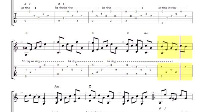 斯卡保罗集市 吉他指弹谱