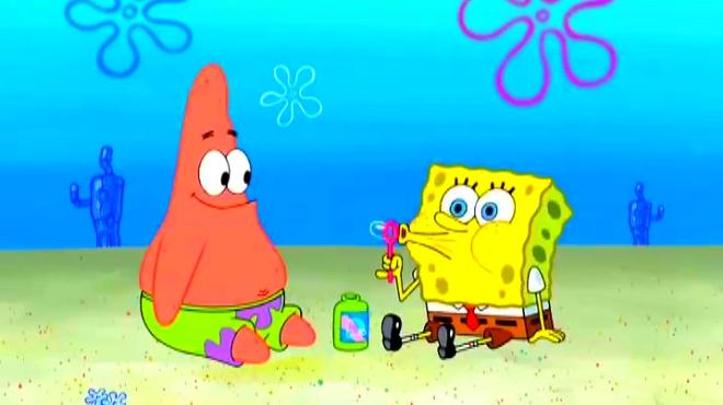 谁能看着海绵宝宝派大星对着吹泡泡吹一下午,我就佩服