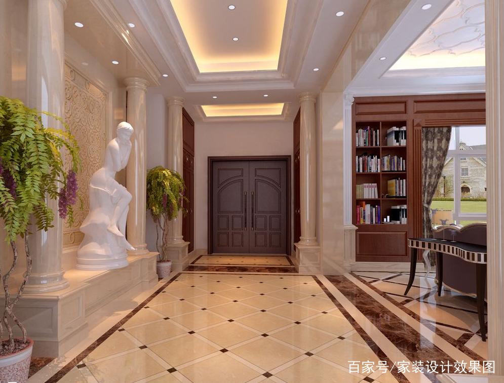 8款欧式风格过道效果图,走廊也可以这样奢华和清新