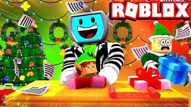 小格解说 Roblox 圣诞礼物模拟器:欢乐圣诞世界!礼物堆得比树高?