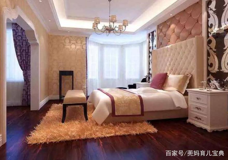 欧式风格的卧室,豪华高档,温馨又浪漫,大大的床让人看着就很舒服.