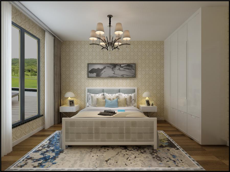 设计,在床和衣柜的选择上用现代感较强的家具,自由随意,简洁怀旧,实用